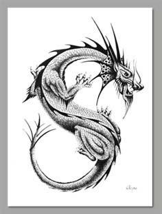 bico de pena - S - dragão