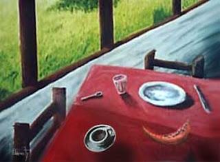 pintura burity - O café da manhã ausente