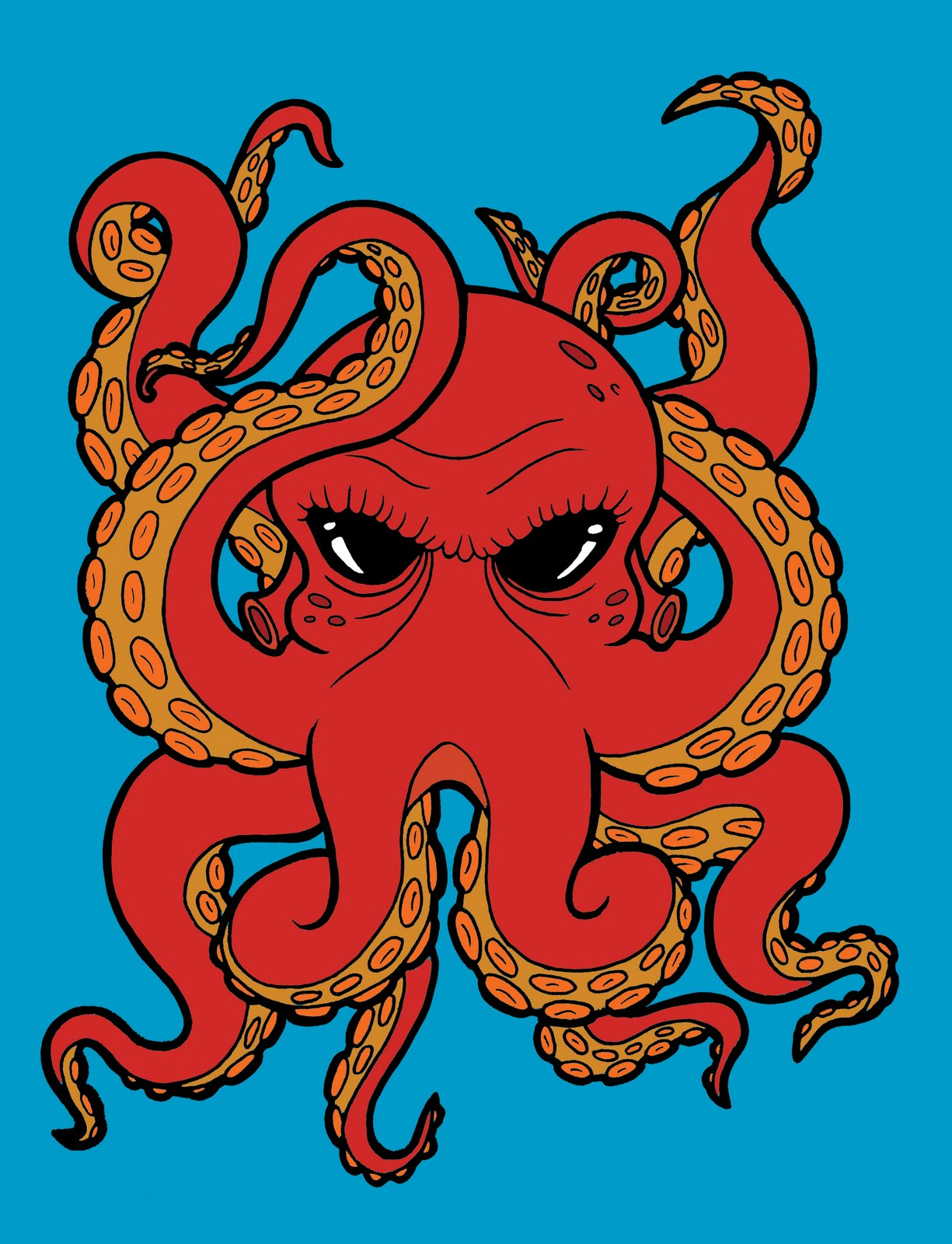 Octopus octopus drawing and drawings on pinterest for Octopus drawing easy