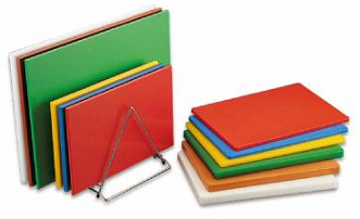 Polyethylene chopping boards from Russums