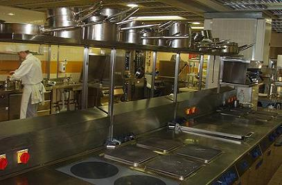 The Escoffier Room kitchen