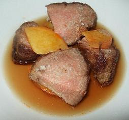 "Iberian pork pieces as a ""stew"""