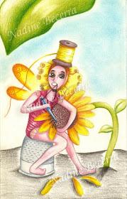 Hada arregla flores