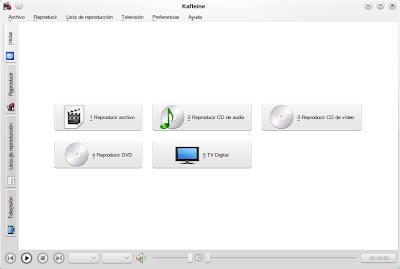 Kaffeine, reproductor multimedia para KDE