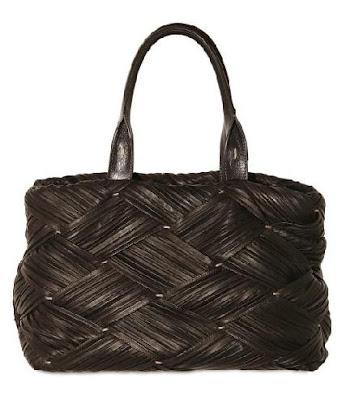Agnona Pleated Leather Satchel