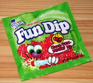 tresjules fun dip and coke the candy and the drink not