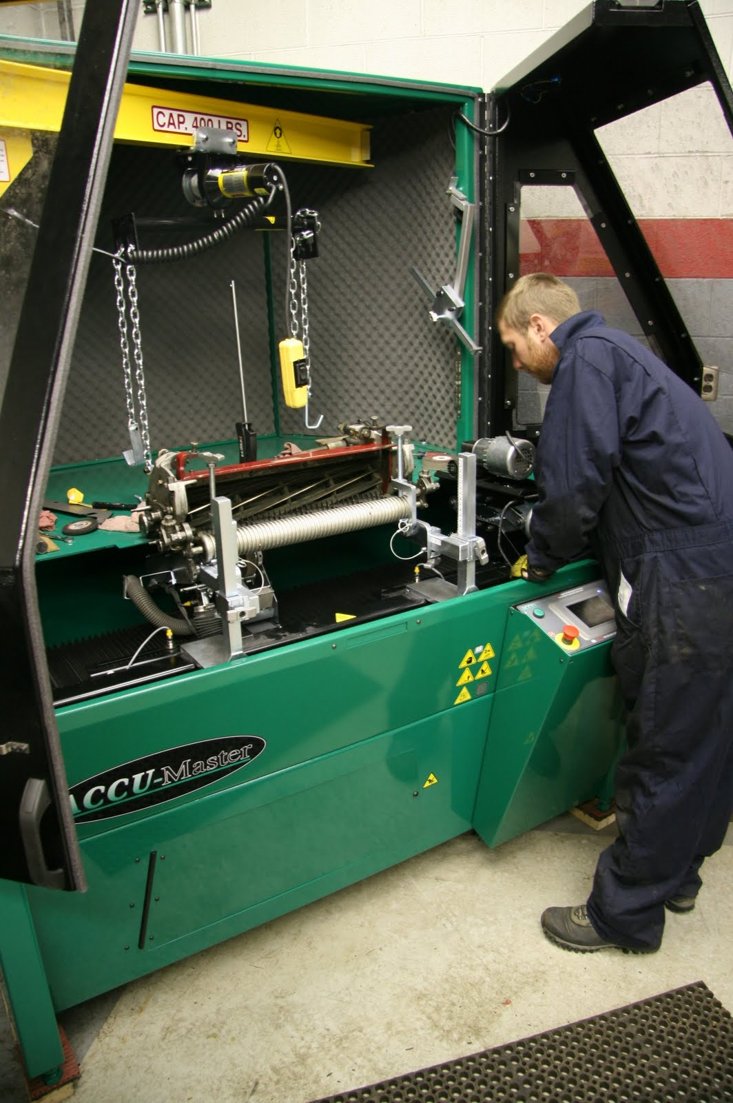 reel mower sharpening machine