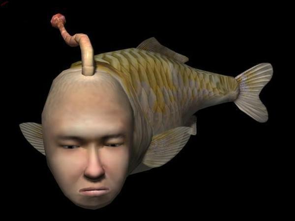 Pesce con faccia umana