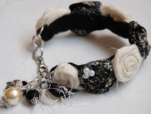 Damask Flower Bracelet with charms