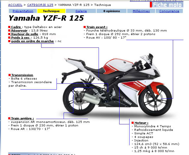 The J Z bikers  yamaha yzf series
