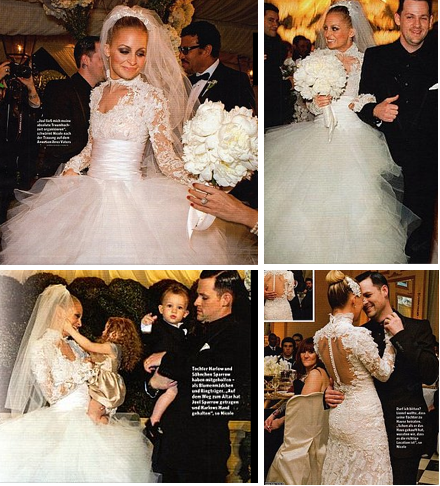Nicole Richie Wedding Dress Designer
