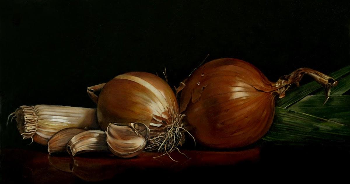 La tavola fiamminga natura morta con cipolla aglio e porro for Aglio porro
