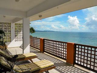 Caribbean beach balcony