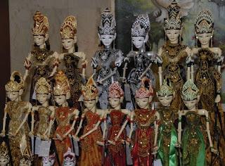 Wayang Golek wooden handicrafts, Indonesia antique wooden
