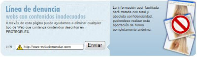 Línea de denuncia en Protégeles.com