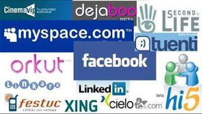 Conjunto de logotipos de distintas redes sociales