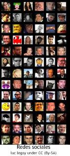 Seguidores de una red social, muuuchas fotografías