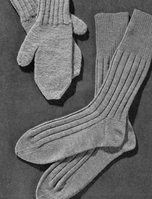 Columbia Minerva sock pattern, 1947