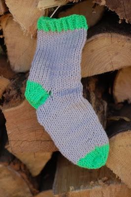 Machine-knit, hand-finished proof-of-concept sock