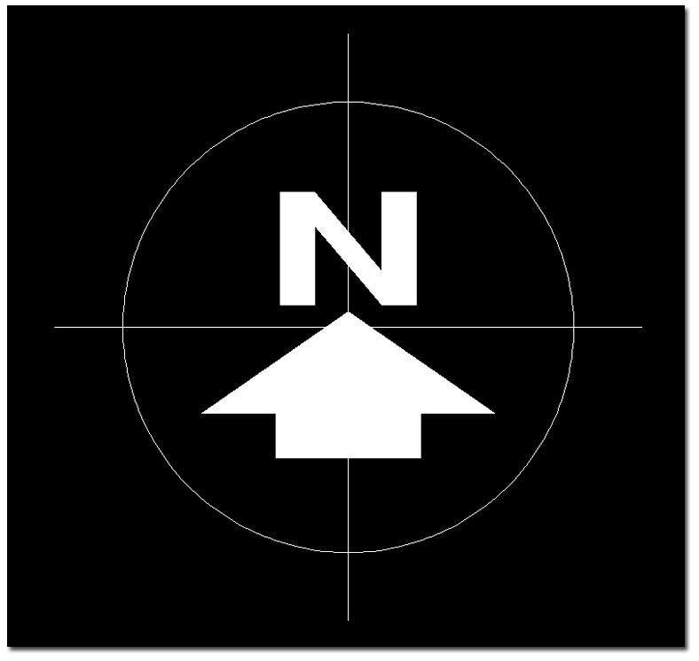 how to draw north arrow in autocad
