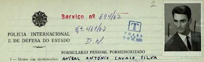 Inscrição de Cavaco na PIDE