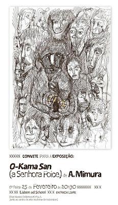 Exposição O-KAMA SAN (A Senhora Foice)de A. Mimura