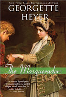 cover of Heyer's 'The Masqueraders'