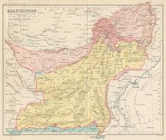 1899م خريطة بلوشستان الشرقية بعد التقسيم عام