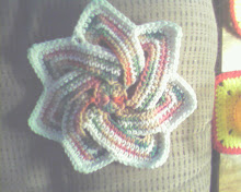 Crocheted Flower Hot Pad