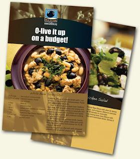 Brindes Grátis Livro de receitas O-live It Up on a Budget!