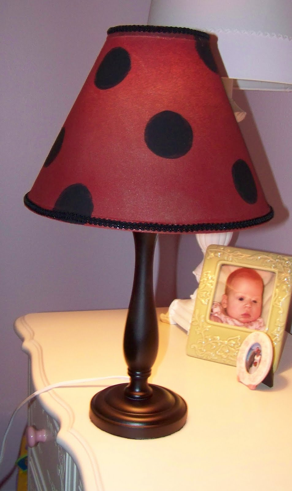 The idea attic ladybug lamp for now its in my daughters room for us to admire while it waits for a home in a cute girly ladybug room mozeypictures Choice Image