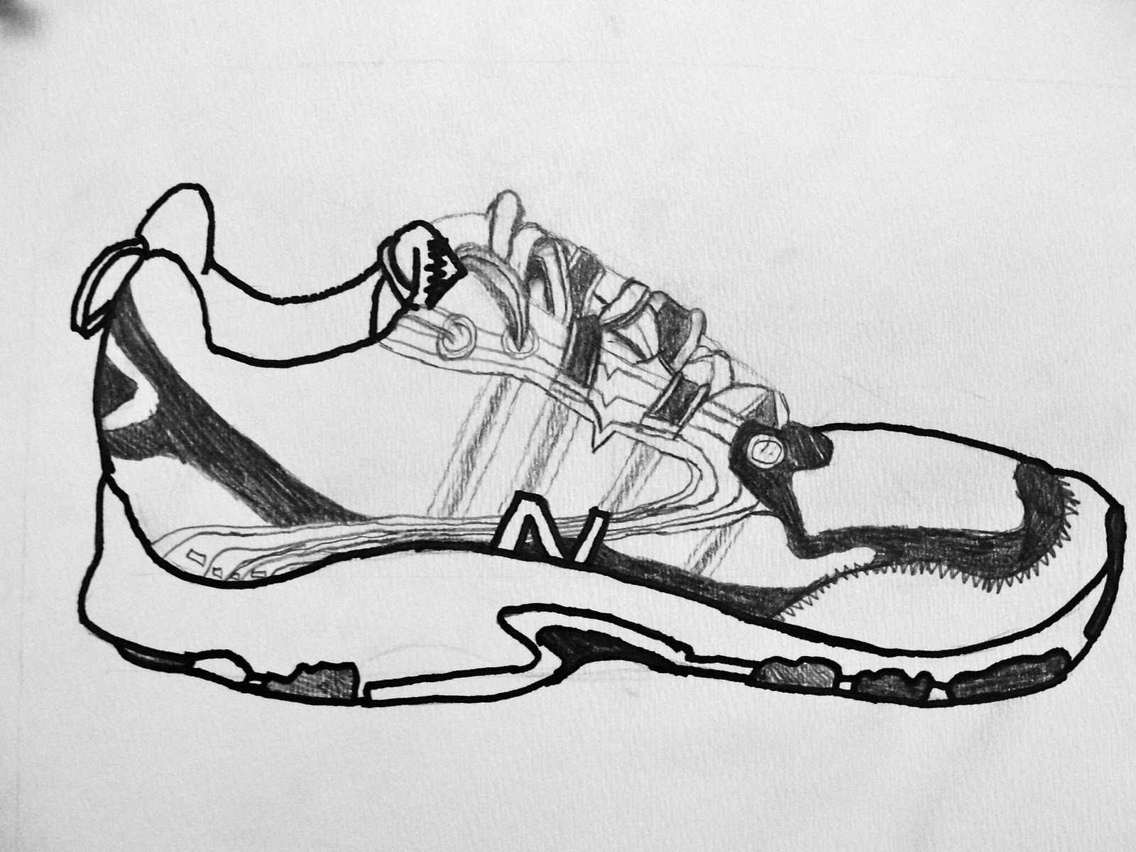 Contour Line Drawing Of Shoes : Da vinci s wings th grade contour construction line