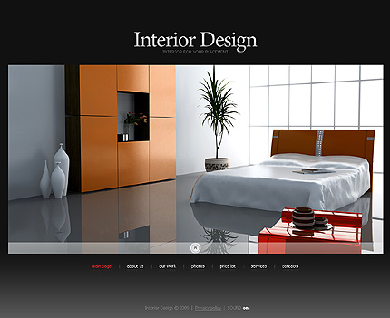 Web Templates For Websites Dealing With Interior Design Designer