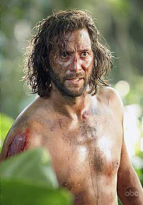 Desmond shirtless bloody sweaty dirty Hume