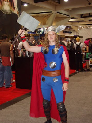 Thor lame cosplay convention guy costume