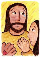 Touching His Heart