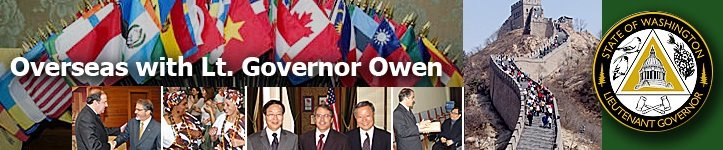 Overseas With Lt. Governor Brad Owen