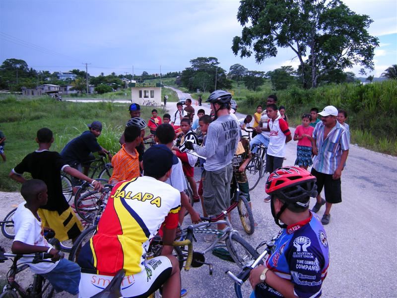 Bike Race I made up going to the next village over and back.   The police help me out with escorts
