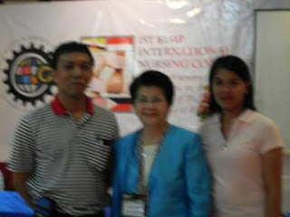Profs. Jerome and Maela Babate with Dr. Carmencita Abaquin of the Board of Nursing