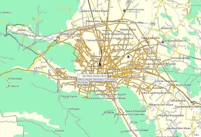 Blog cartografia gps mapa de nuevo leon incluye ciudades for Ciudad santiago villas