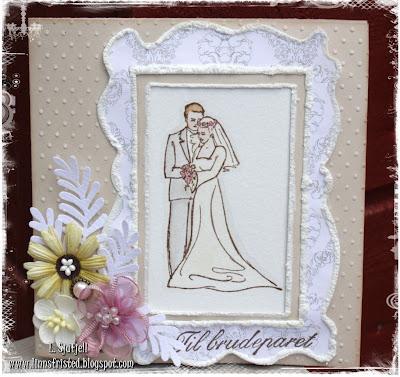 Bryllupskort fra linn d