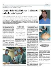 Cirugía de la obesidad y la diabetes cada día más suave.