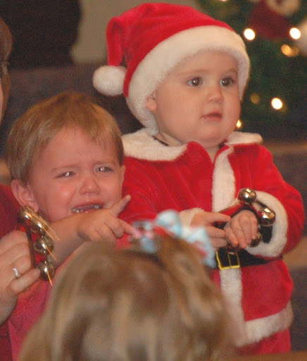 Lil'er E crying at the Christmas program