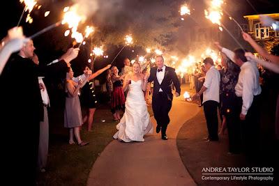 sparklers exit at lake oconee wedding georgia