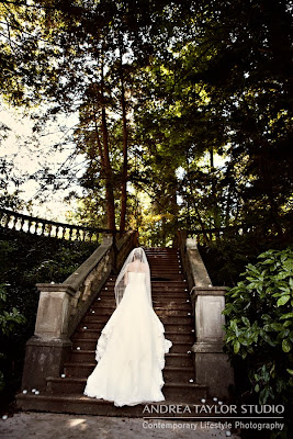 bride-at-cator-woolford-gardens-stairs