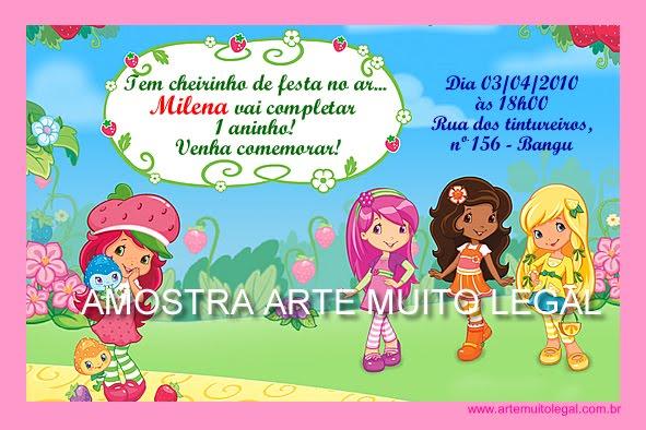 Arte muito legal - Convites infantis especiais e lembrancinhas de aniversário