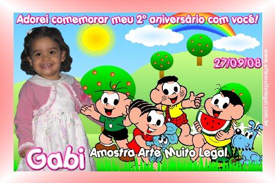 34-Convites Infantis personalizados e lembrancinhas de aniversário Arte muito legal