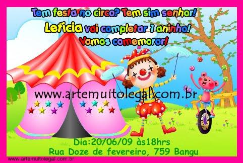 Artemuito legal - Convites infantis e lembracinhas de aniversário
