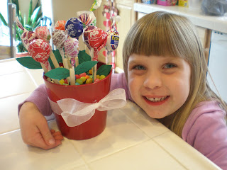 unique pot flower for kids: candy gifts