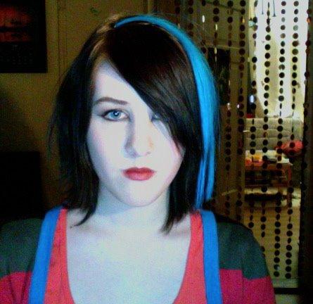 Emo blue hairs pretty emo hair cuts.Emo Haircuts, Emo Hairstyles,